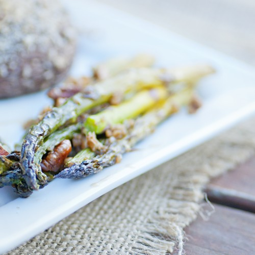 Maple Roasted Asparagus with Pecans | the simple lens