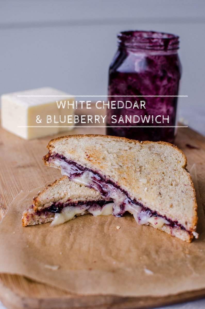 White Cheddar & Blueberry Sandwich