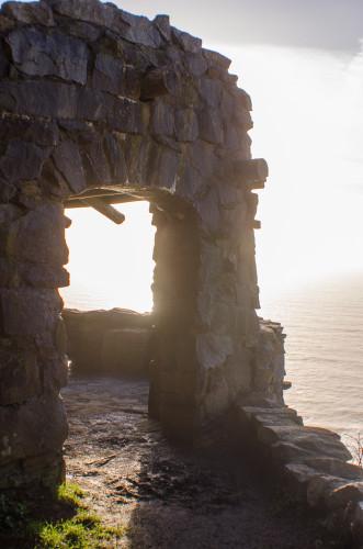 stone structure atop Cape Perpetua
