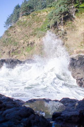 Crashing waves at Devil's Churn